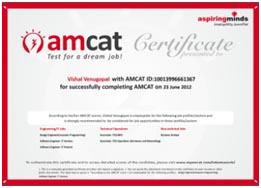 myAmcat :: Know your AMCAT Feedback Report!