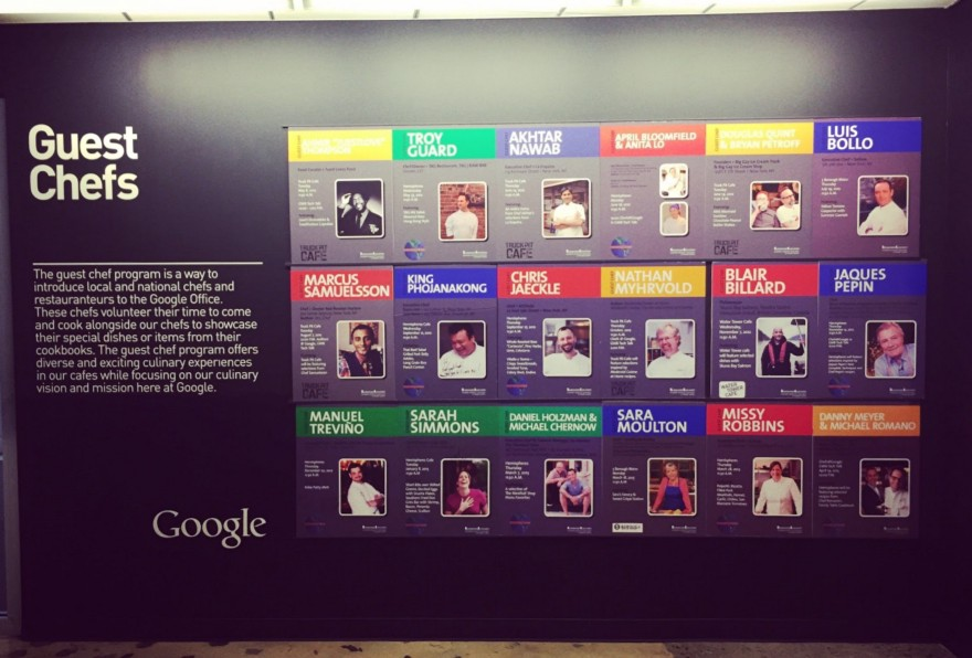 Google guest chefs