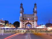 Jobs in hyderabad