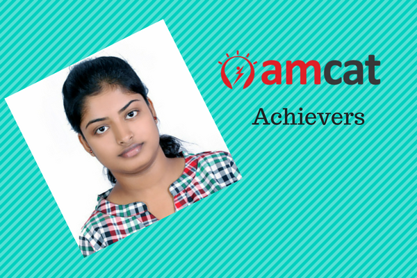 Arpita, a successful candidate placed via the AMCAT.