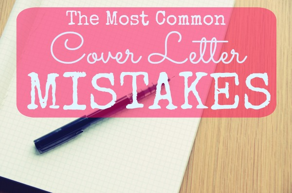 common mistakes on manager cover letter