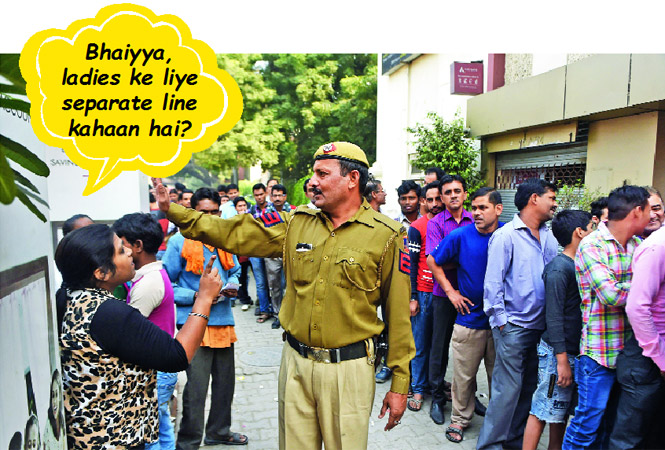 Off-the-road stories from those queuing for cash. (Courtesy: BCCL)