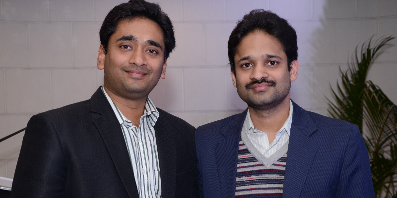The brains behind Aspiring Minds - Himanshu and Varun Aggarwal.