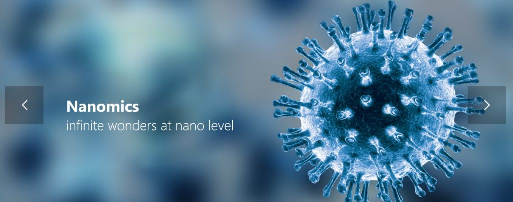 Nanomics - defining the new in nanotechnogy. (Courtesy: Official website)