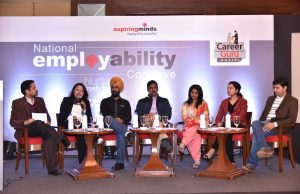 Panellists for the National Employability Conclave organised in New Delhi.