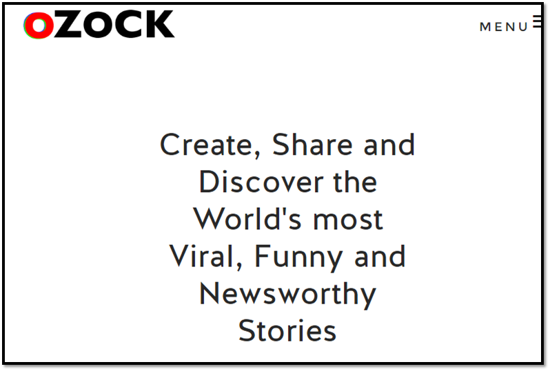 Digital media company Ozock works on social-worthy content curation.