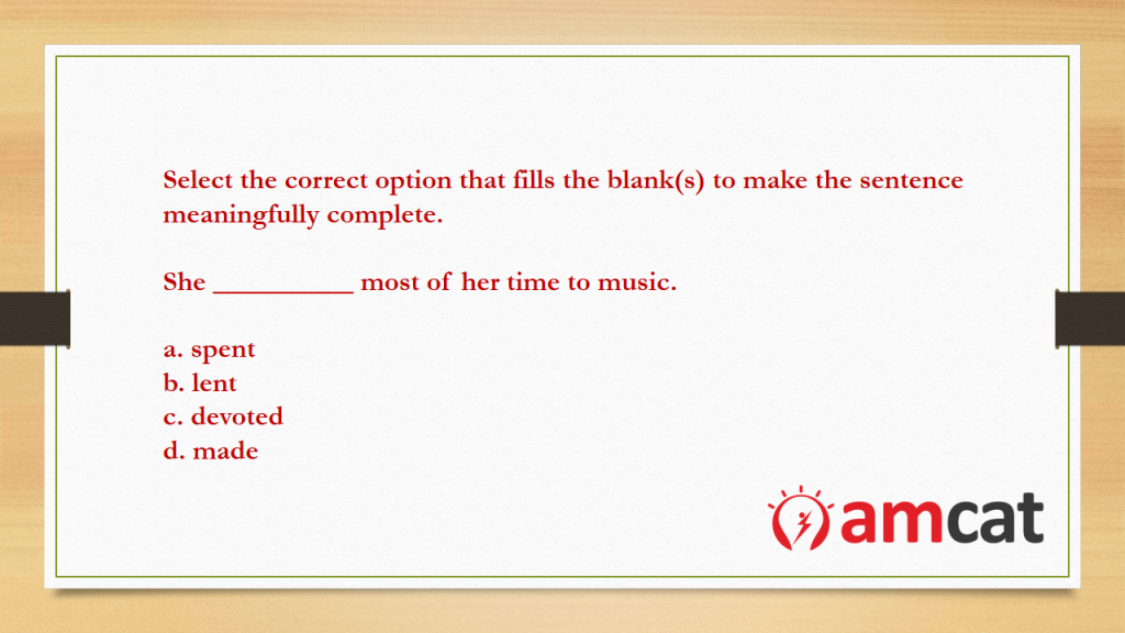 An example of a question from the English grammar section.