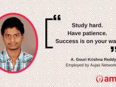 Gouri Krishna Reddy talks about how he found a job with the AMCAT test.
