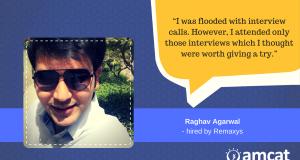 Raghav Agarwal is a success story. He landed his dream job through the AMCAT Test.