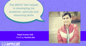 Find out how Rajat Kumar connected the dot between himself and a software developer job with the AMCAT Test.