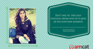 Handle interview questions with confidence like this AMCAT achiever did.