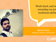 Manish Kumar, our AMCAT Achiever talks about hard-work and presentation.