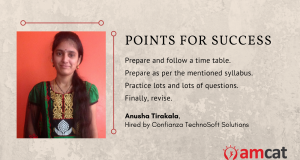 Searching for jobs? This is Anusha Tirakala's takeaway from her AMCAT journey.
