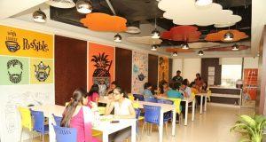 The office cafeteria in Indiamart in Noida. (Glassdoor)