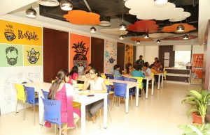 The office cafeteria in Indiamart in Noida. (Glassdoor)