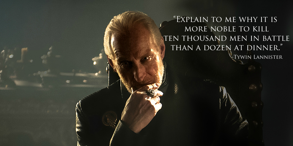 Simple, really? (Image: Tywin Lannister fansite)