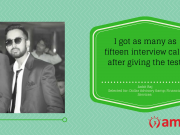 Presenting our AMCAT achiever of the day; Ankit Raj