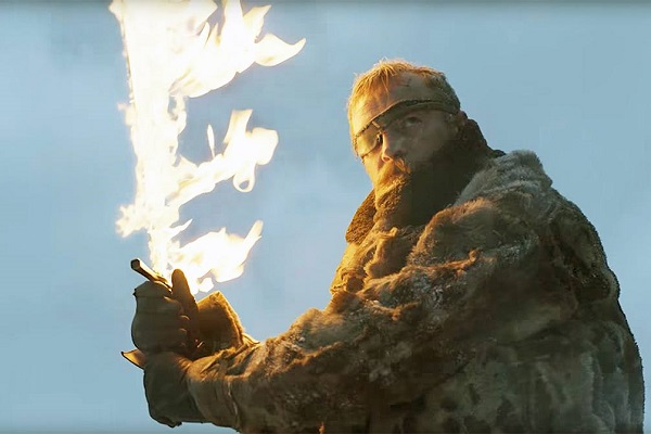 Beric Dondarrion with his flaming sword to show you the right way.