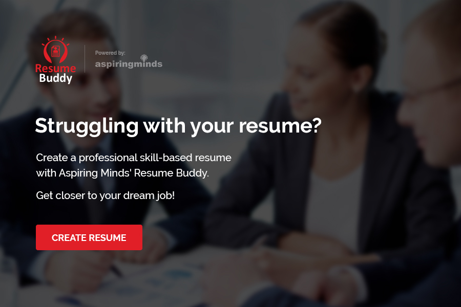 The first step in using Resume Buddy as a resume builder tool.