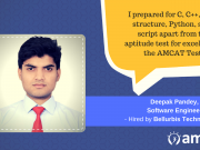 Deepak Pandey explains how AMCAT helped him bridge his aspiration to be a software developer.