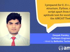 Deepak Pandey explains how AMCAT helped him bridge his aspiration to be a software developer.