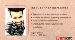 How Arpan Grover ended up with an HDFC job.