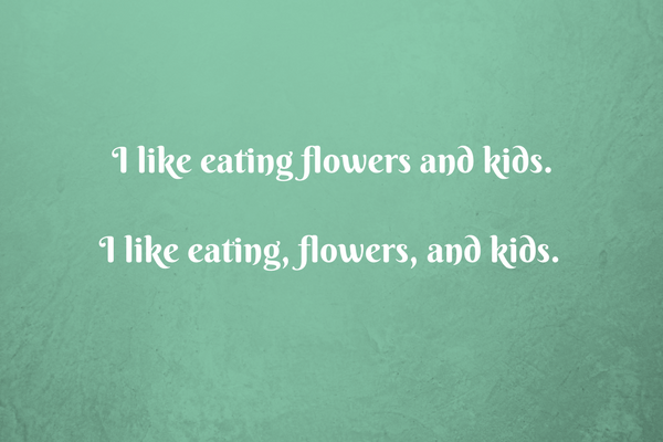 I like eating, flowers, and kids.