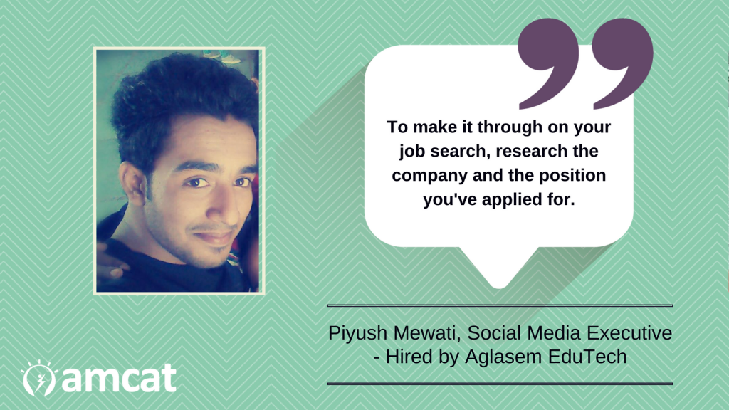 Piyush Mewati's journey towards becoming an Aglasem hire.