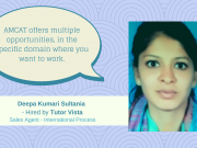 How AMCAT helped Deepa achieved a customer support job.