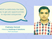 Learn how Prabhakar Dwivedi excelled his job search after giving the AMCAT Test.