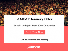 Book the AMCAT now and get great discounts.