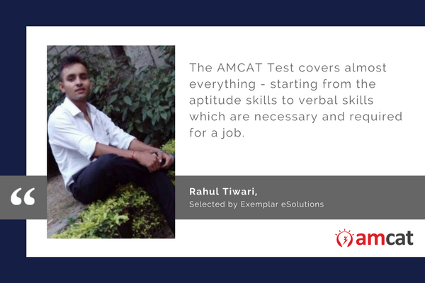 How the AMCAT Test helped Rahul on his job search journey.