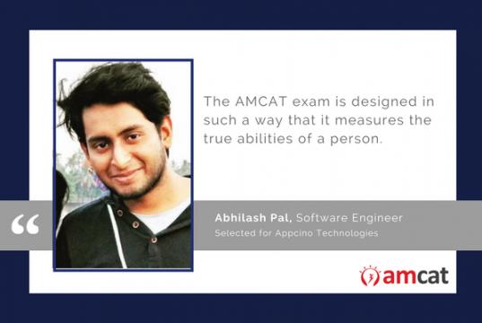 Abhilash Pal talks about his AMCAT test experience.