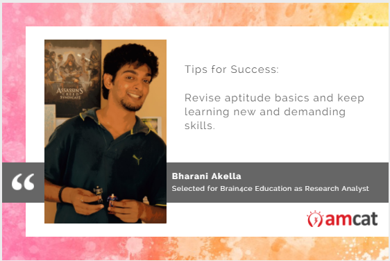 Bharani Akella shares his job search success tips.