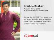 The AMCAT Test is easy to clear once you're good with your basics, shares this achiever.