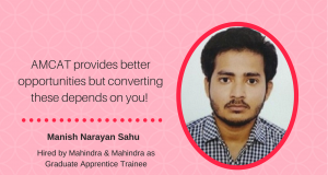 Manish Narayan Sahu on how he got a Mahindra & Mahindra job
