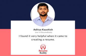 Aditya Kaushish helps us with a ResumeBuddy review.