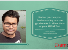 Aman Kumar gives us his AMCAT Testimonial.
