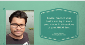 Aman Kumar gives us his AMCAT Testimonial.