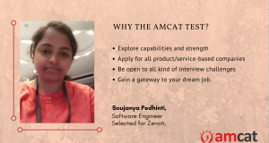 Soujanya reviews the AMCAT Test to get her dream job.