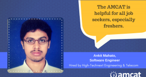 Ankit Mahato explains his job search journey with the AMCAT Test.