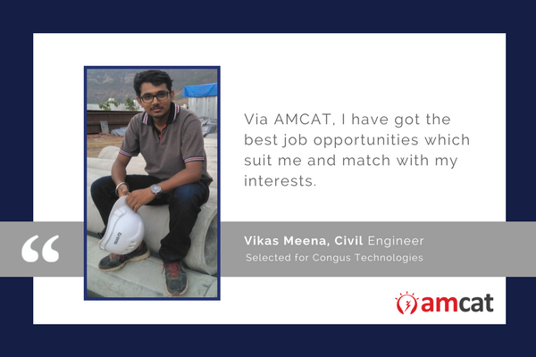 Vikas Meena details his AMCAT success story.