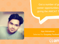 How AMCAT helped Ajay Mahadevan land a fresher job.