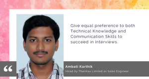 Karthik took the AMCAT Test to find greater job opportunities.