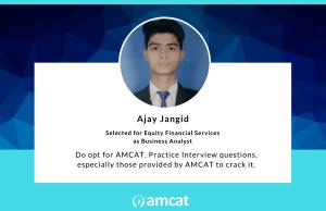 Ajay Jangid shares his AMCAT Success Story.