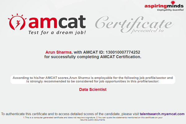 Get Data Scientist Certification From AMCAT And Land Your Dream Job!