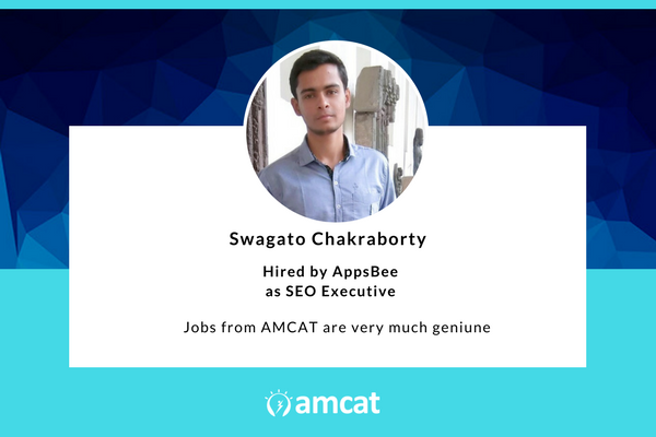 Swagato, in this AMCAT Testimonial, explains how the test helps even those without an engineering background.