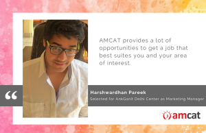 Harshwardhan Pareek talks about how he got his first interview call, courtesy the AMCAT.