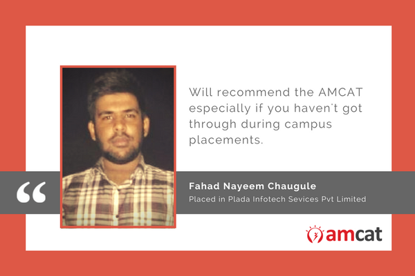 Fahad shares why you should take the AMCAT in this AMCAT Testimonial.