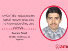 Another AMCAT achiever to make us proud and narrate his success story.